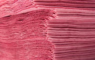 Pile of kitchen paper napkins