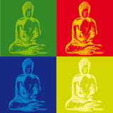 Popart Buddha poster