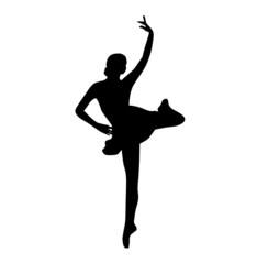 ballet dancers , vector illustration, black and white