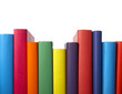 colorful books stack education