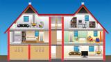 Fototapety vector house