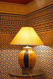 Moroccan lamp poster