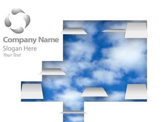 Cloud Company Backdrop