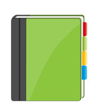 Address book icon poster