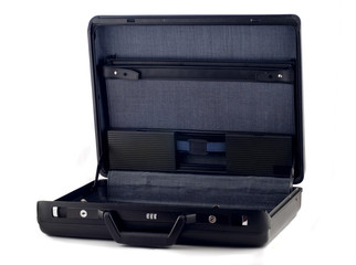 Opened briefcase