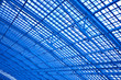Blue unusual geometric ceiling