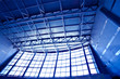 Wide blue ceiling