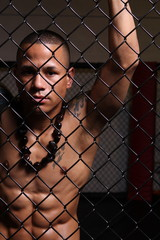 Athlete in cage