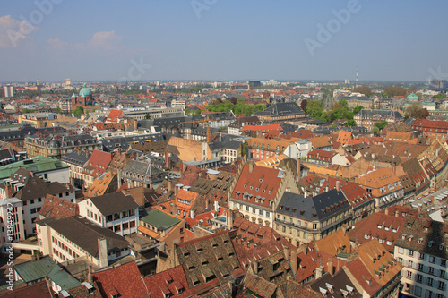 Colorful roof tops of Strasbourg