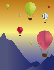 Hot air balloon scene 1