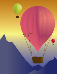 Hot air balloon scene 2