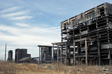 Abandones damagen industrial buildings because of polution
