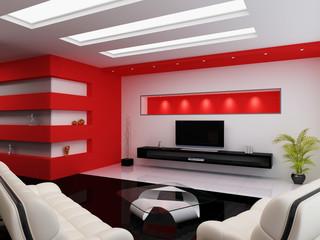 Modern interior of a room