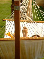 relaxing vacation on hammock