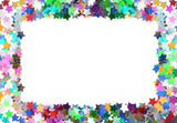 Colorful confetti frame