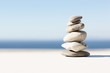 Stability: Zen pebbles stacked together