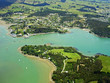 Aerial view of Mill Bay and the town of Mangonui, Northland, New