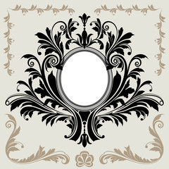 Floral Decoration Frame