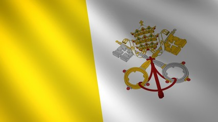 Vatican looping flag waving in the wind