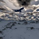 flying airliner