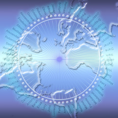 Conceptual image of global communication and social network