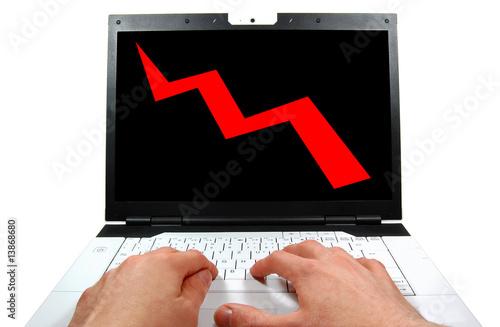Am Laptop arbeiten