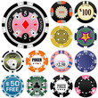 gambling chips vector set 2