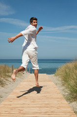 Holiday Travel Vacation - running carefree in summer