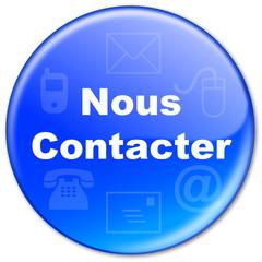 """Bouton """"Nous Contacter"""" (bleu)"""
