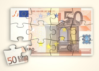 50 Euro Note Puzzle - Top View