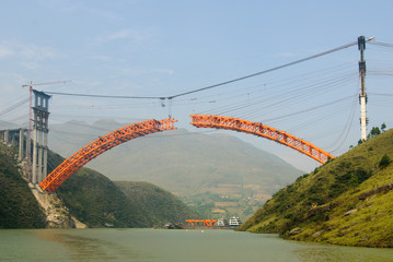Bridge over Yangtze river, China