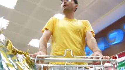 buyer in food shop