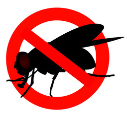 interdit aux mouche