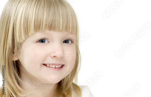 A portrait of smiling girl