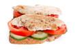 whole wheat chicken sandwich