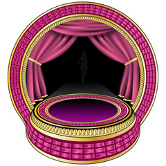 Small pink theatre stage