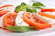 Leinwanddruck Bild - classic caprese salad