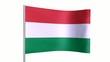Drapeau Hongrie animation en boucle