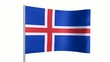 Flag of Islande animation loop