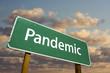 Pandemic Green Road Sign