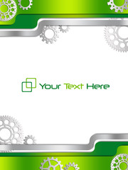 Green business background with gears
