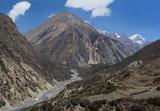 Trekking in the nepal Himalaya poster