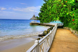 Fototapety Pier / Beach at Montego Bay, Jamaica, Carribean