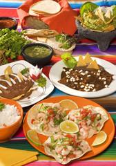 Antojitos mexicanos tradicionales. México.
