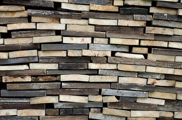 Plank ,firewood arranged in the stack