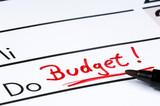 Budget - Eintrag im Kalender poster