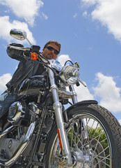 Biker - low angle