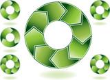 Chevron Cycle Green poster