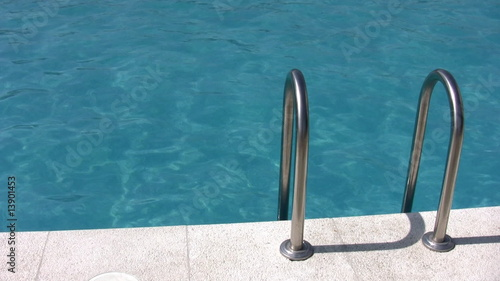 water pool and banister