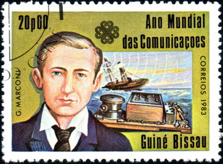 Guinée Bissau. G. Marconi. Timbre postal.1983.